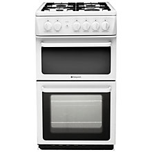 Buy Hotpoint HAG51P Gas Cooker, White Online at johnlewis.com