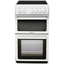 Buy Hotpoint HAE51PS Electric Cooker, White Online at johnlewis.com