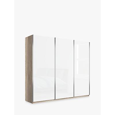 John Lewis & Partners Elstra 250cm Wardrobe with Glass Sliding Doors