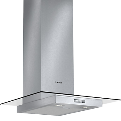 Image of Bosch DWA064W50B Chimney Cooker Hood, Brushed Steel