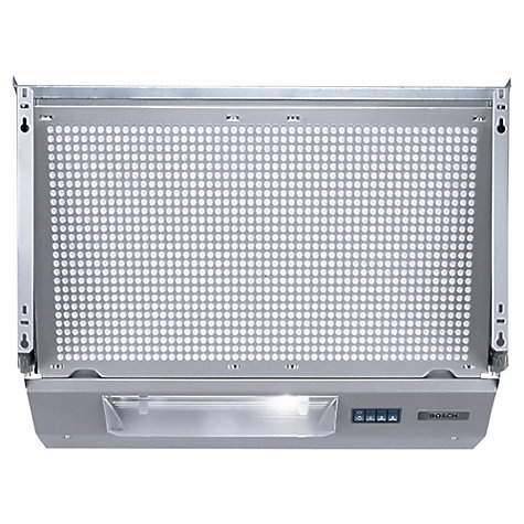 Buy Bosch DHE635BGB Integrated Extractor Hood, Silver Metallic Online at johnlewis.com