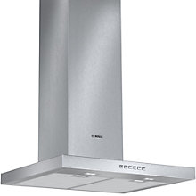 Buy Bosch DWB067A50B Chimney Cooker Hood, Brushed Steel Online at johnlewis.com
