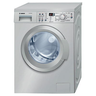Bosch Exxcel WAQ2836SGB Freestanding Washing Machine, 8kg Load, A+++ Energy Rating, 1400rpm Spin, Silver