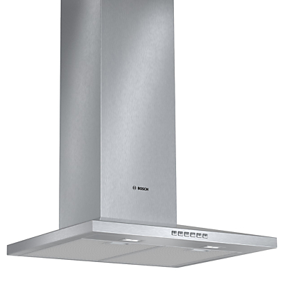 Image of Bosch DWW067A50B Chimney Cooker Hood, Brushed Steel