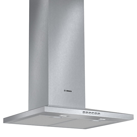 Buy bosch dww067a50b chimney cooker hood brushed steel - Campana extractora 80 cm ...