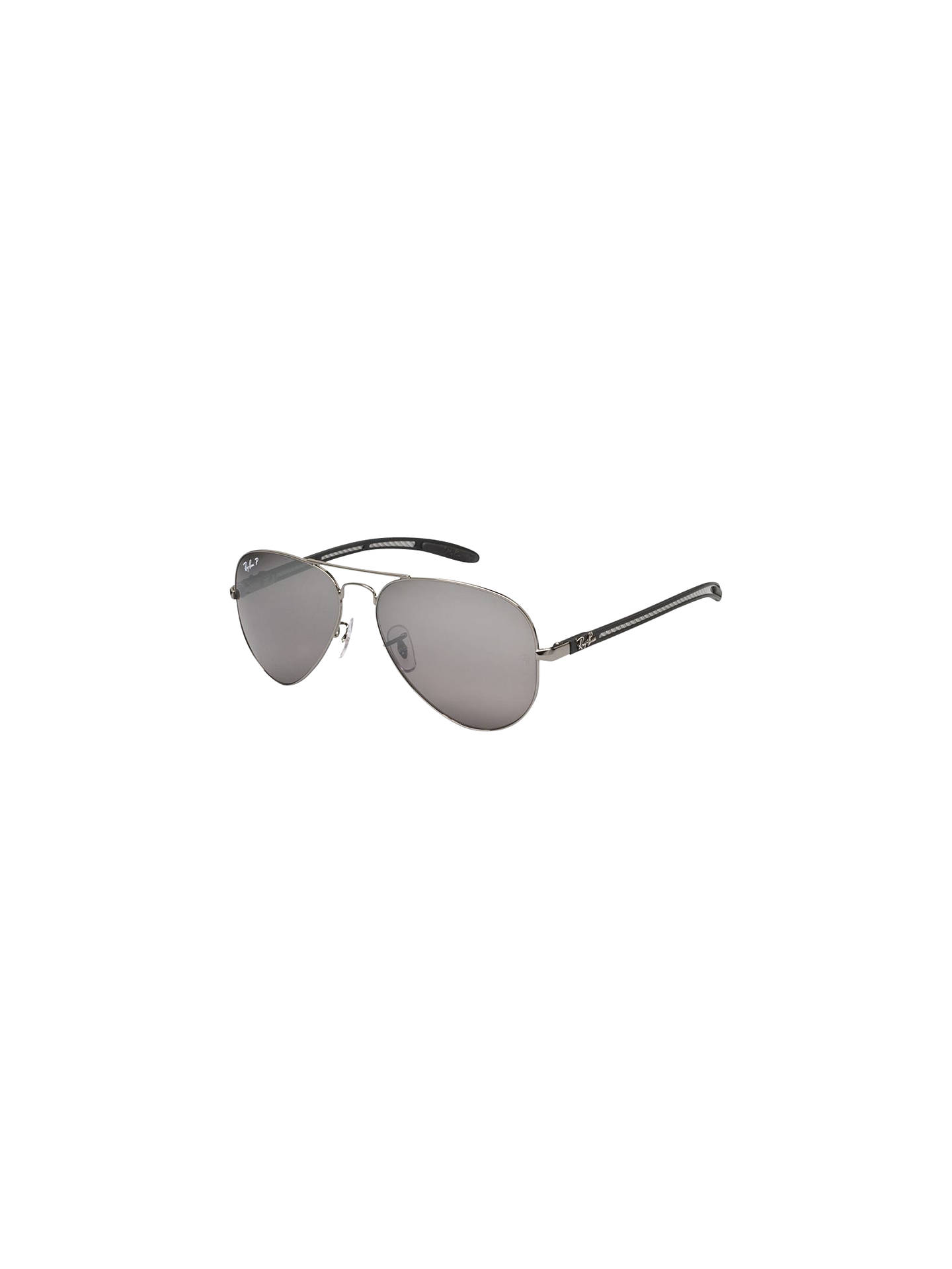 3989f6a8b74 Ray-Ban RB8307 Aviator Metal Frame Polarised Sunglasses at John ...