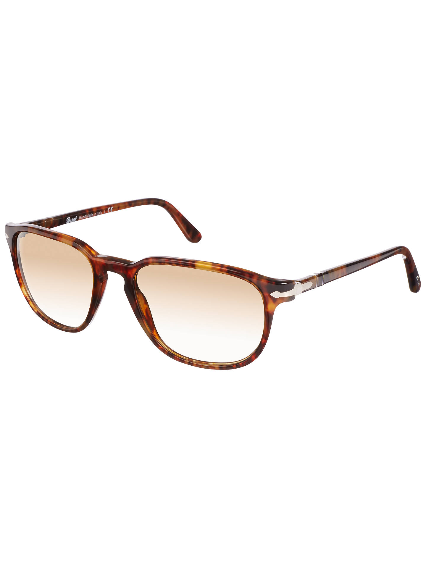 fcfb02a4270c Buy Persol PO3019S Capri Square Sunglasses, Havana Online at johnlewis.com  ...