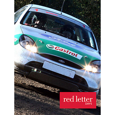 Buy Red Letter Days Rally Driving Thrill Online at johnlewis.com