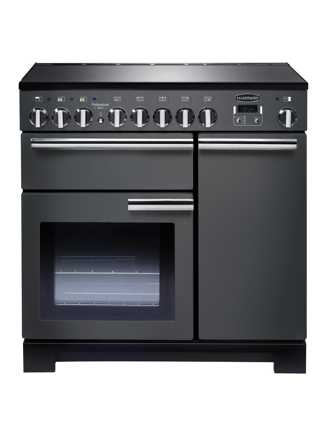 Buy Rangemaster Professional Deluxe 90 Induction Hob Range Cooker, Slate/Chrome Trim Online at johnlewis.com