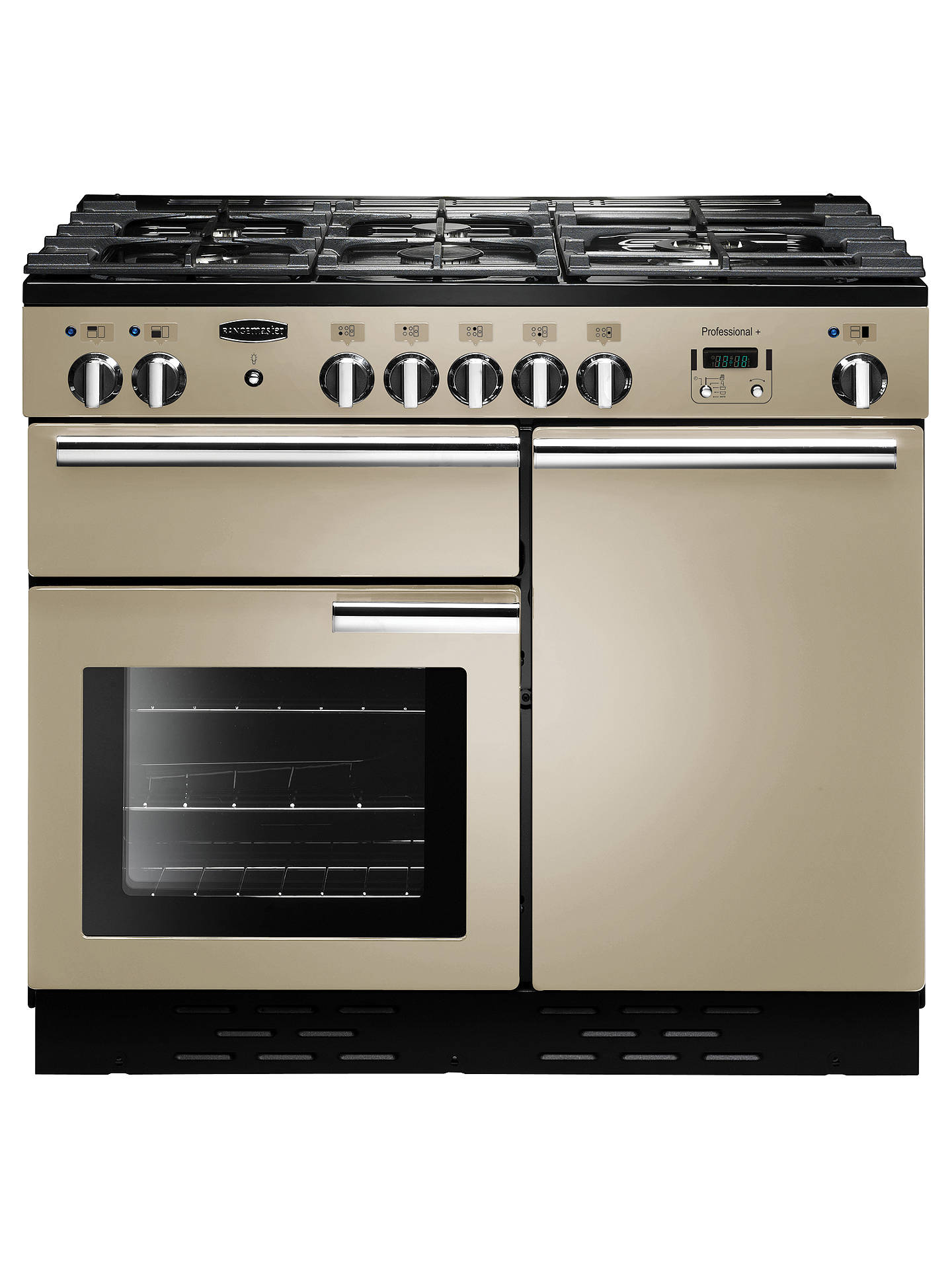 Buy Rangemaster Professional + 100 Dual Fuel Range Cooker, Cream/Chrome Trim Online at johnlewis.com