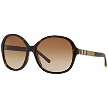 Buy Burberry BE4178 Round Sunglasses, Dark Havana Online at johnlewis.com