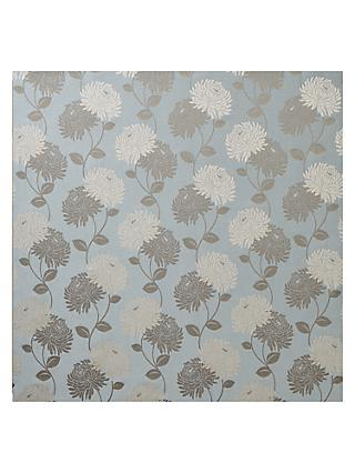 Maggie Levien for John Lewis Chrysanthe Weave Made to Measure Curtains, Duck Egg