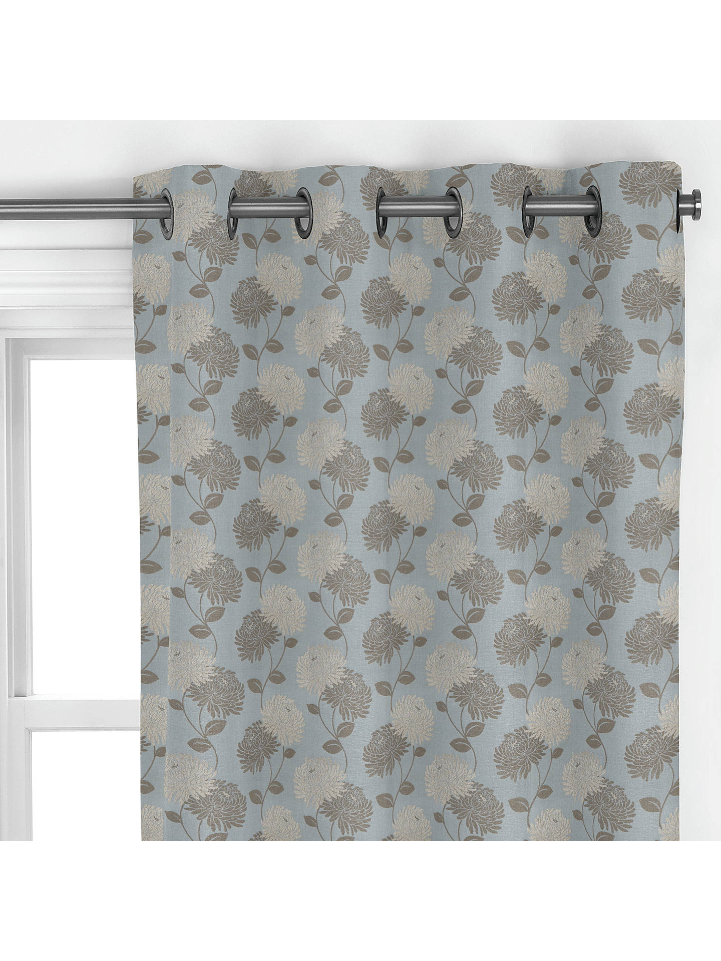 BuyMaggie Levien for John Lewis Chrysanthe Weave Curtain, Duck Egg Online at johnlewis.com