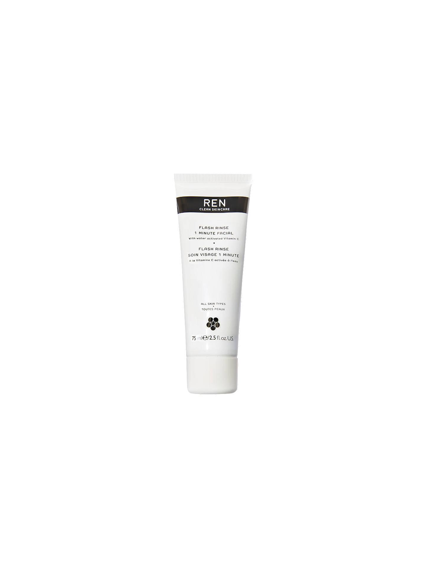 REN Flash Rinse 1 Minute Facial Treatment, 75ml