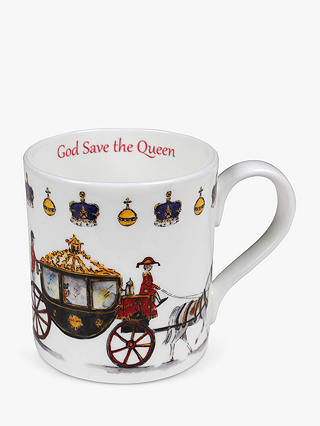 Buy Milly Green God Save The Queen China Mug Online at johnlewis.com