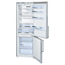 Buy Bosch KGE49BI30G Fridge Freezer, A++ Energy Rating, 70cm Wide, Stainless Steel Look Online at johnlewis.com