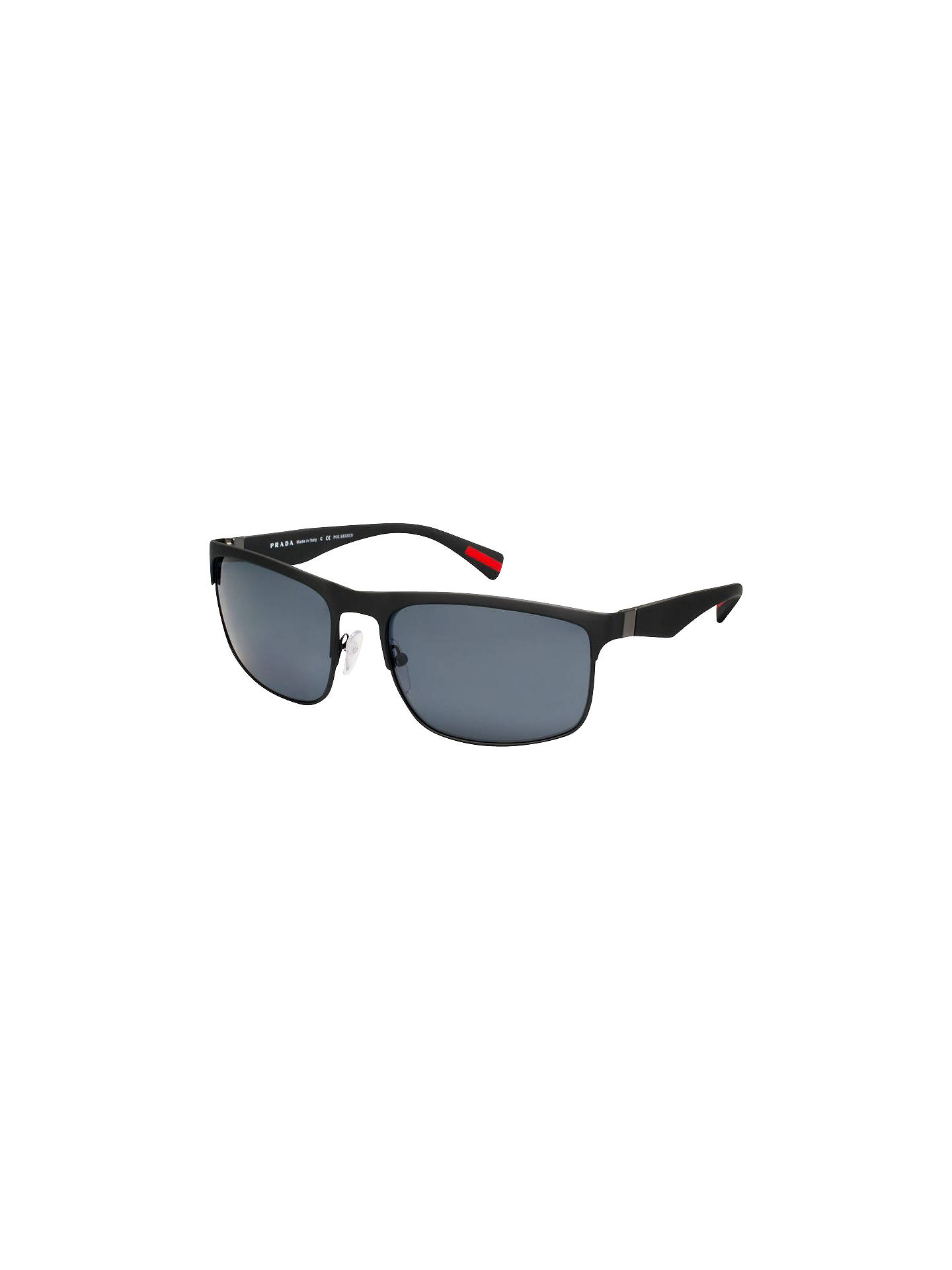 3fc148ee52d01 Prada Linea Rossa PS 56PS Polarised Rectangular Frame Sunglasses ...