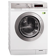 Buy AEG L89499FL ÖKOMix Freestanding Washing Machine, 9kg Load, A+++ Energy Rating, 1400rpm Spin, White Online at johnlewis.com