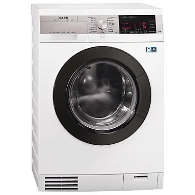 AEG L99695HWD ÖKOKombi Plus Heat Pump Washer Dryer, 9kg Wash/6kg Dry Load, A Energy Rating, 1600rpm Spin, White