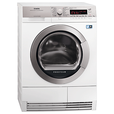 AEG T88595IS ÖKO Sensor Heat Pump Condenser Tumble Dryer 9kg Load A Energy Rating White