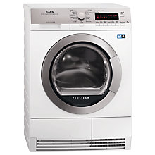 Buy AEG T88595IS ÖKO Sensor Heat Pump Condenser Tumble Dryer, 9kg Load, A++ Energy Rating, White Online at johnlewis.com