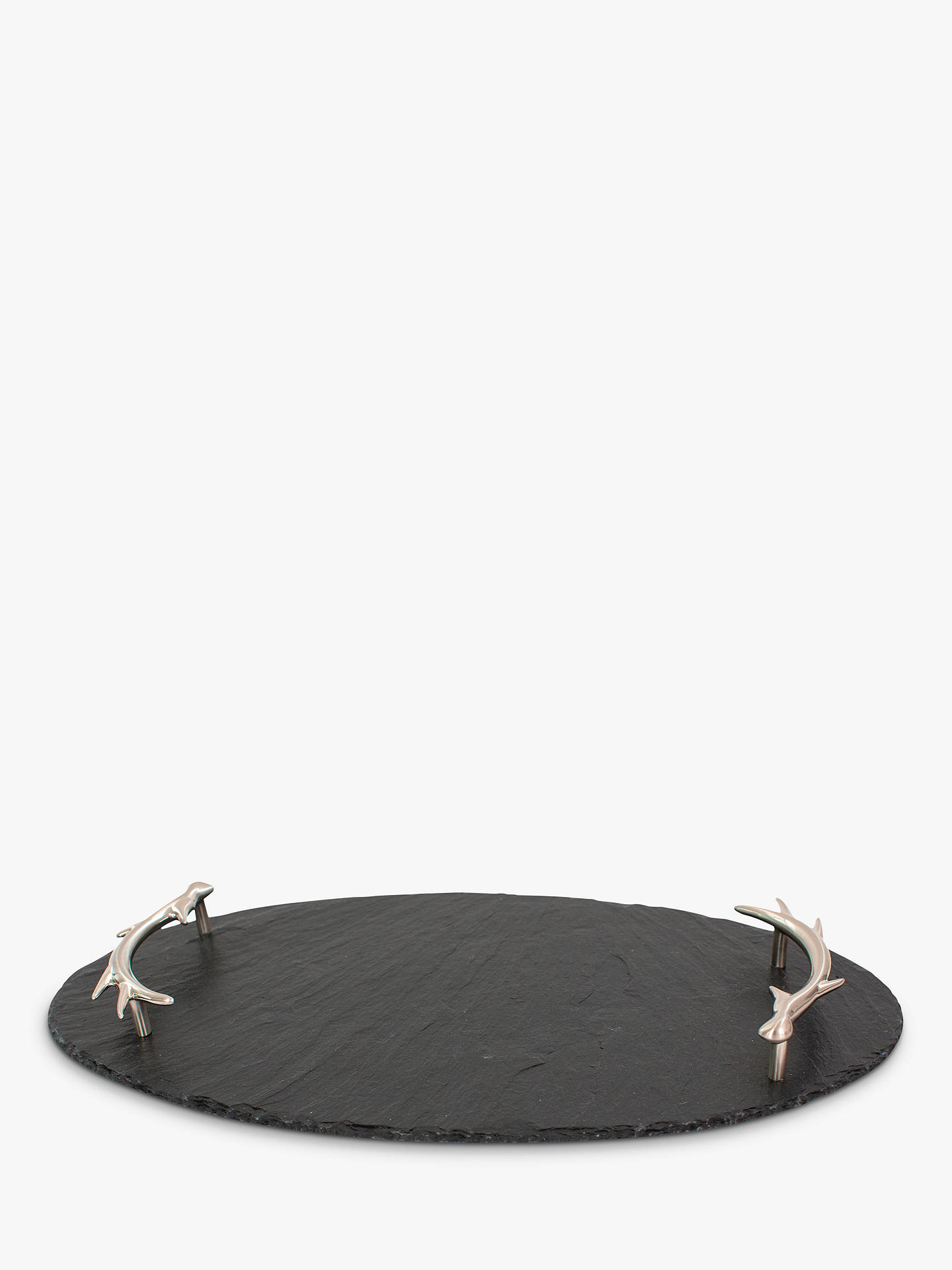 Buy The Just Slate Company Oval Slate Antler Tray, Black Online at johnlewis.com