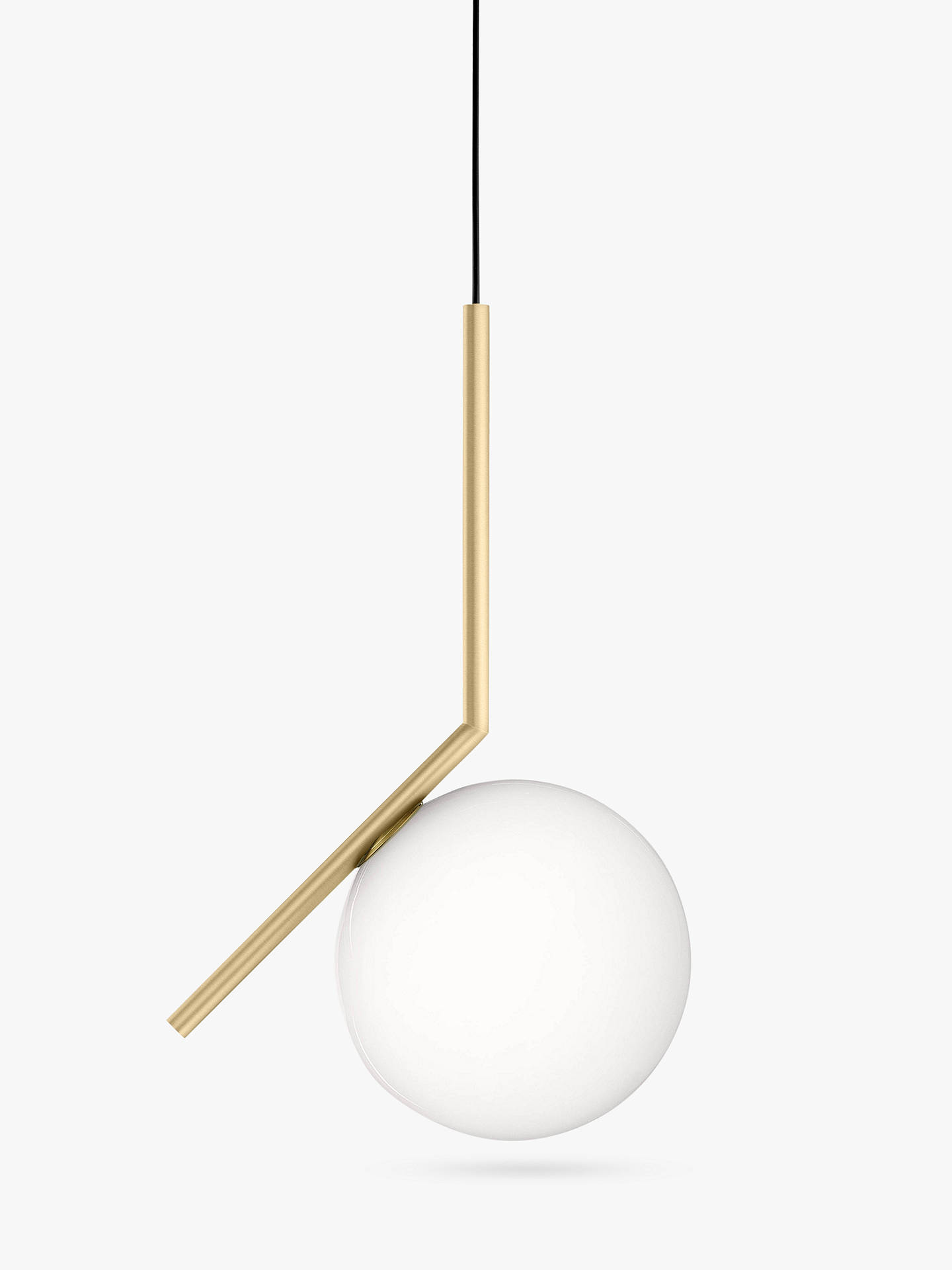 BuyFlos IC S1 Ceiling Light, 20cm, Brushed Brass Online at johnlewis.com