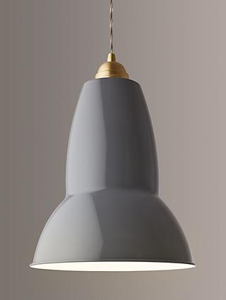 Anglepoise Original 1227 Maxi Brass Ceiling Light Elephant Grey