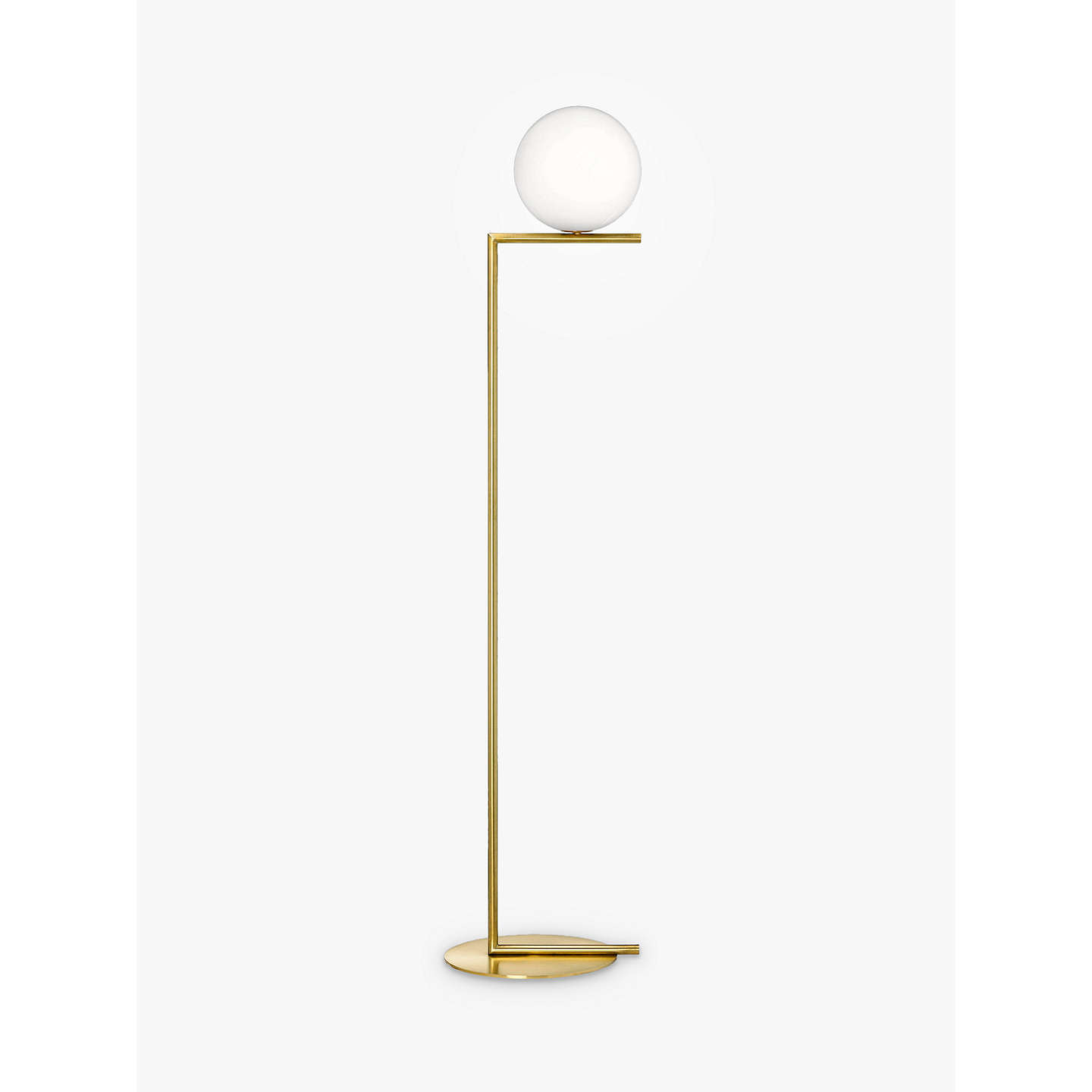 Floss ic f1 floor lamp 20cm at john lewis buyfloss ic f1 floor lamp 20cm brushed brass online at johnlewis mozeypictures Choice Image