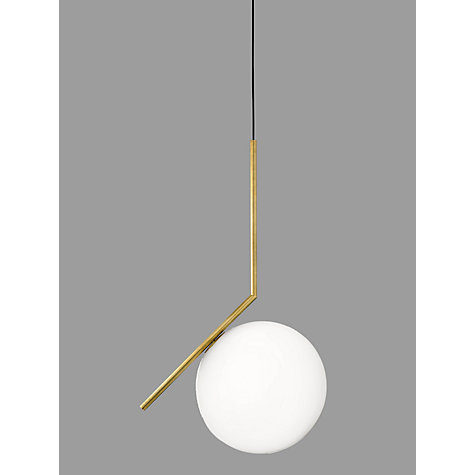 Buy Flos IC S2 Ceiling Light 30cm Brushed Brass