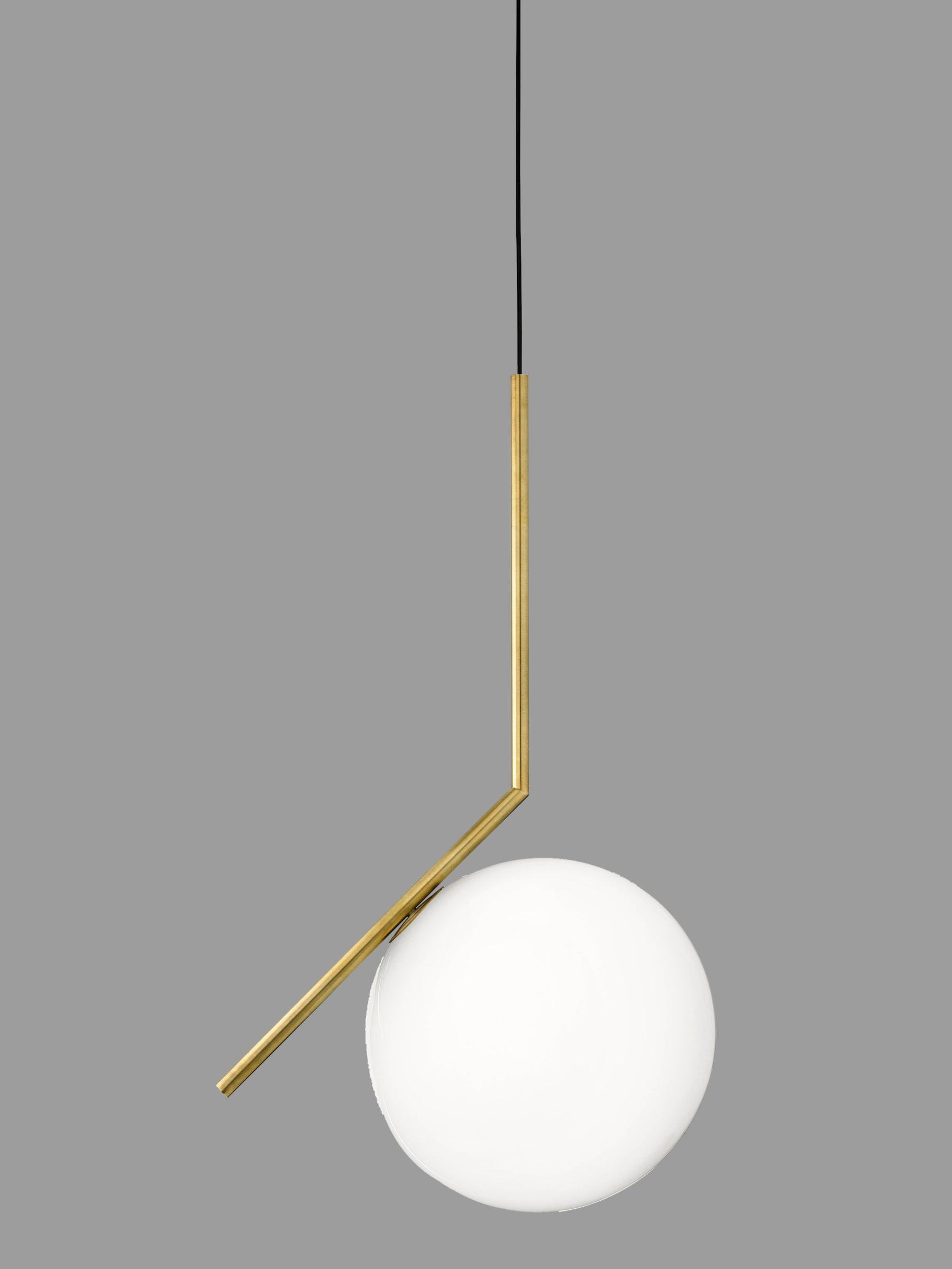 Flos Flos IC S2 Ceiling Light, 30cm, Brushed Brass