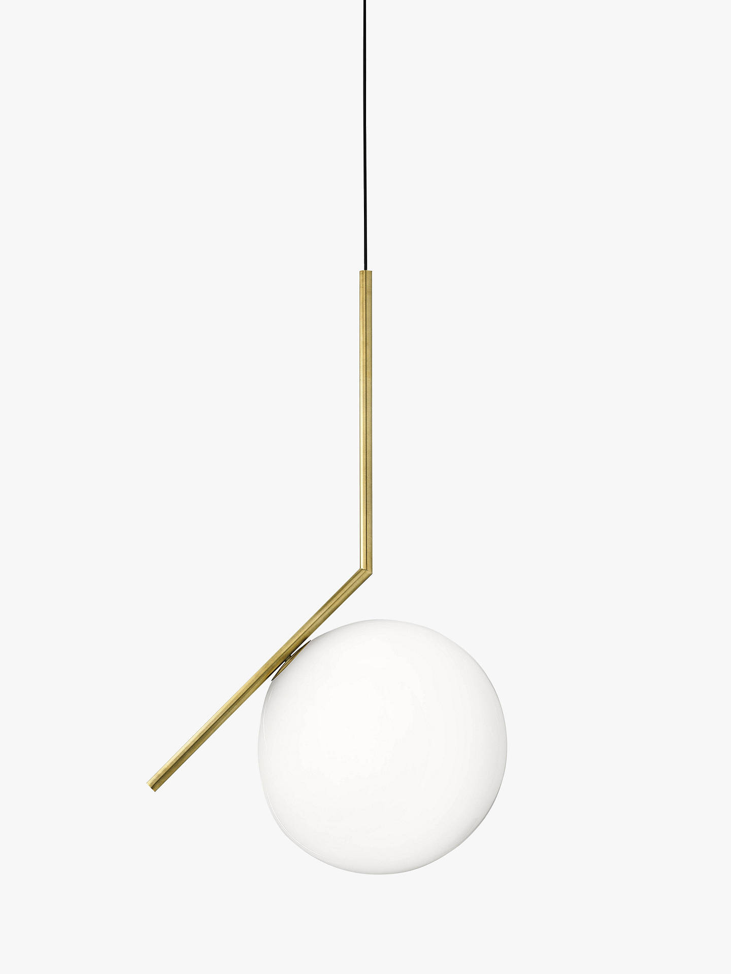BuyFlos IC S2 Ceiling Light, 30cm, Brushed Brass Online at johnlewis.com