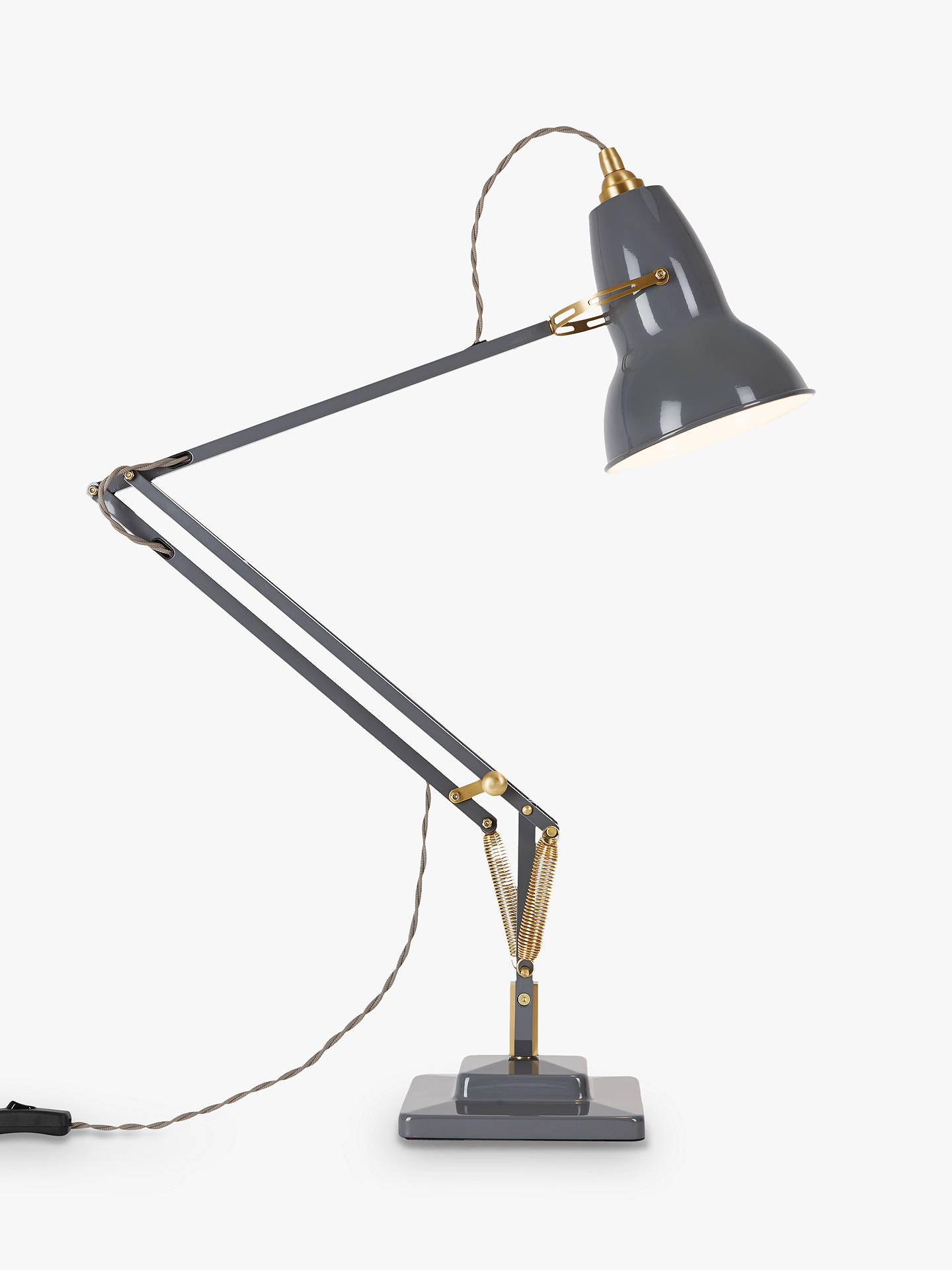 Anglepoise Original 1227 Brass Desk Lamp at John Lewis ...