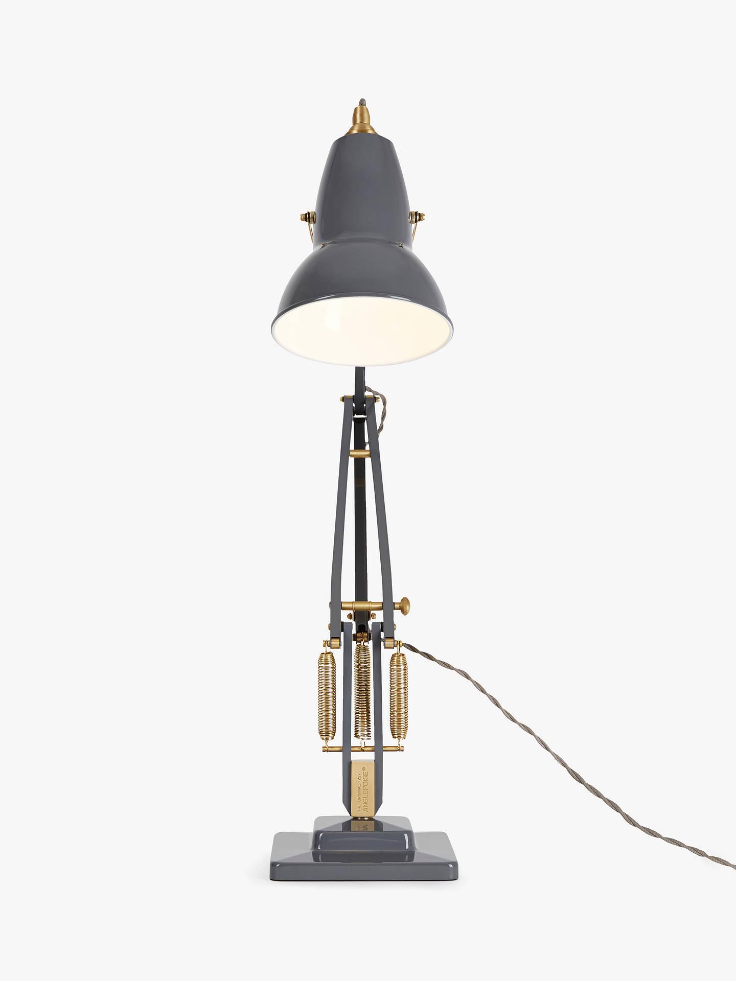Anglepoise Original 1227 Brass Desk Lamp, Elephant Grey