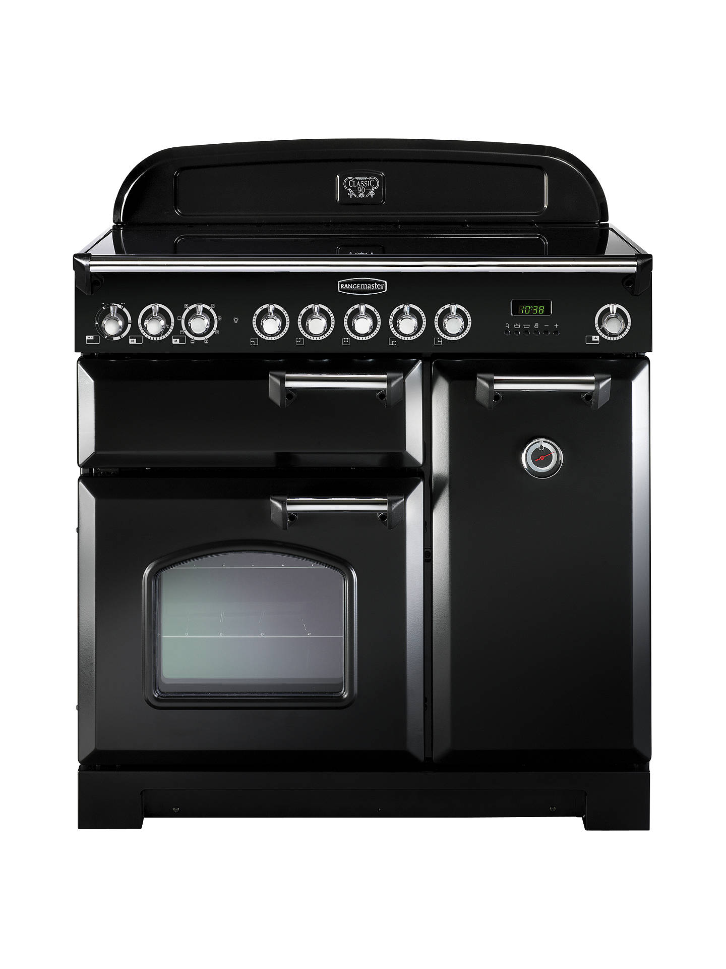 BuyRangemaster Classic Deluxe 90 Induction Hob Range Cooker, Black/Chrome Trim Online at johnlewis.com