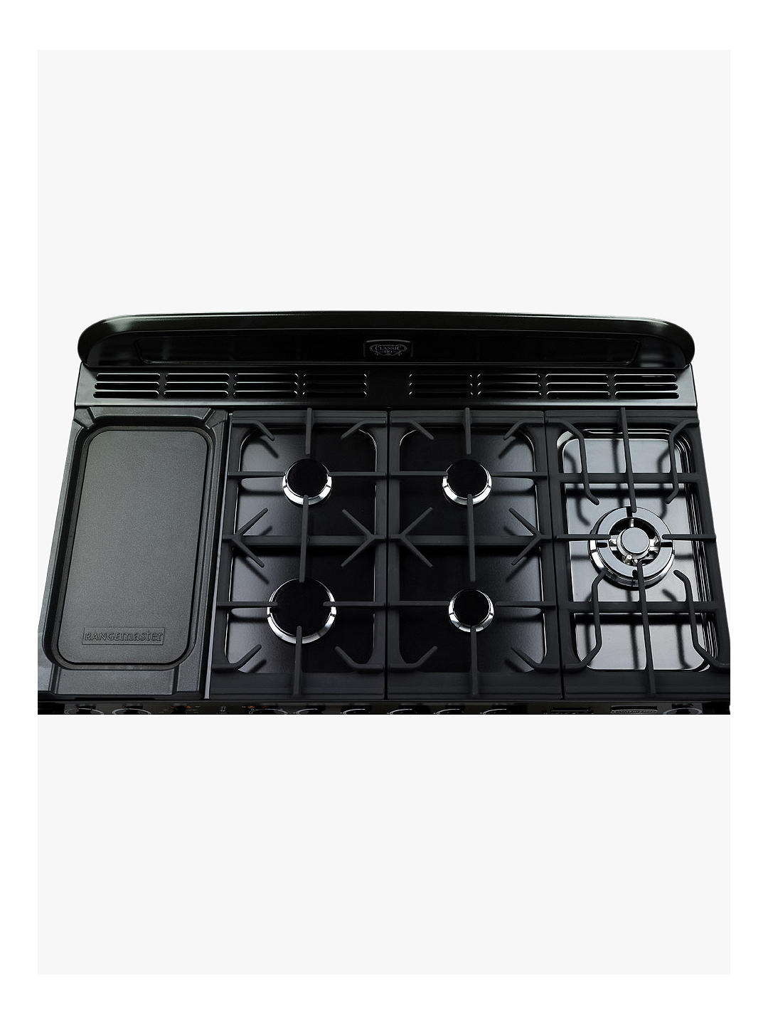Buy Rangemaster Classic Deluxe 110 Dual Fuel Range Cooker, Cranberry/Chrome Trim Online at johnlewis.com