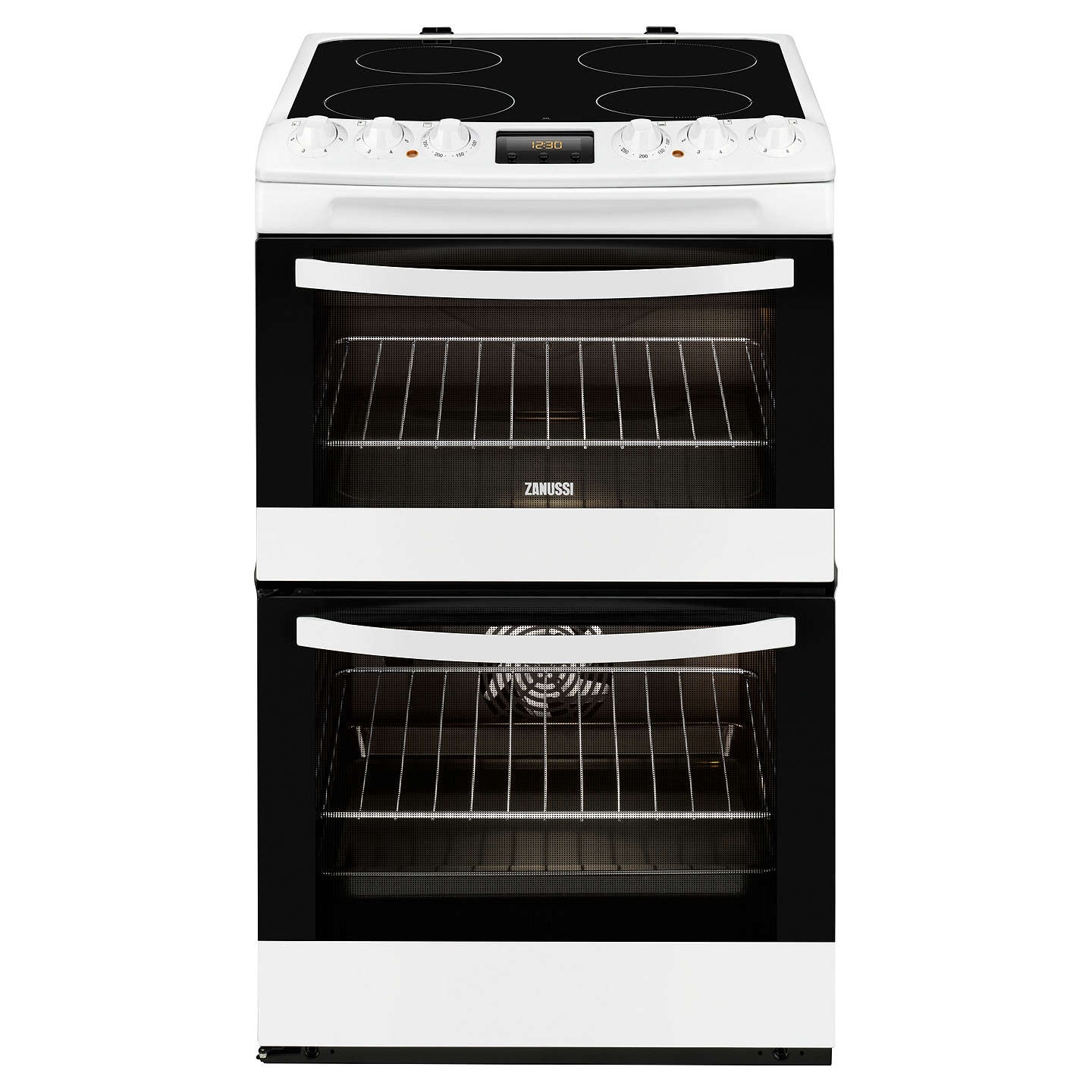 zanussi zcv48300wa electric cooker white at john lewis. Black Bedroom Furniture Sets. Home Design Ideas