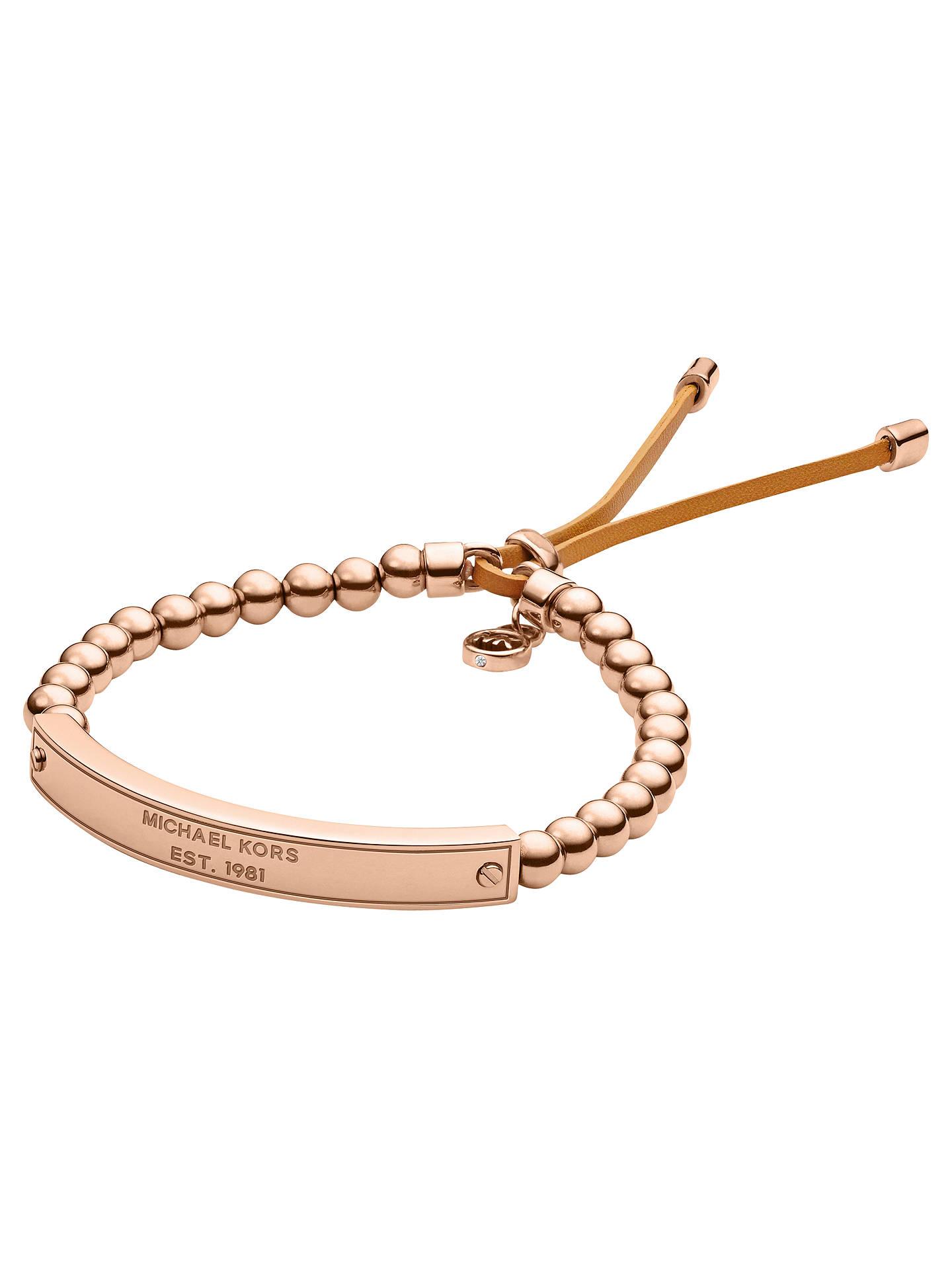 Michael Kors Plaque Stretch Bracelet At