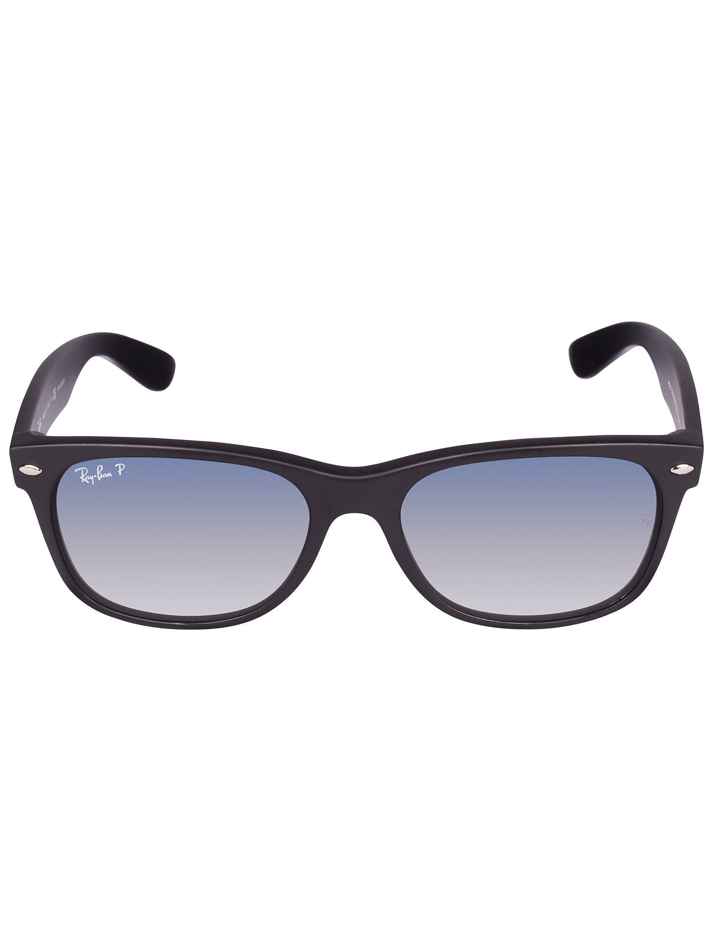 BuyRay-Ban RB2132 New Wayfarer Polarised Sunglasses, Black Online at johnlewis.com