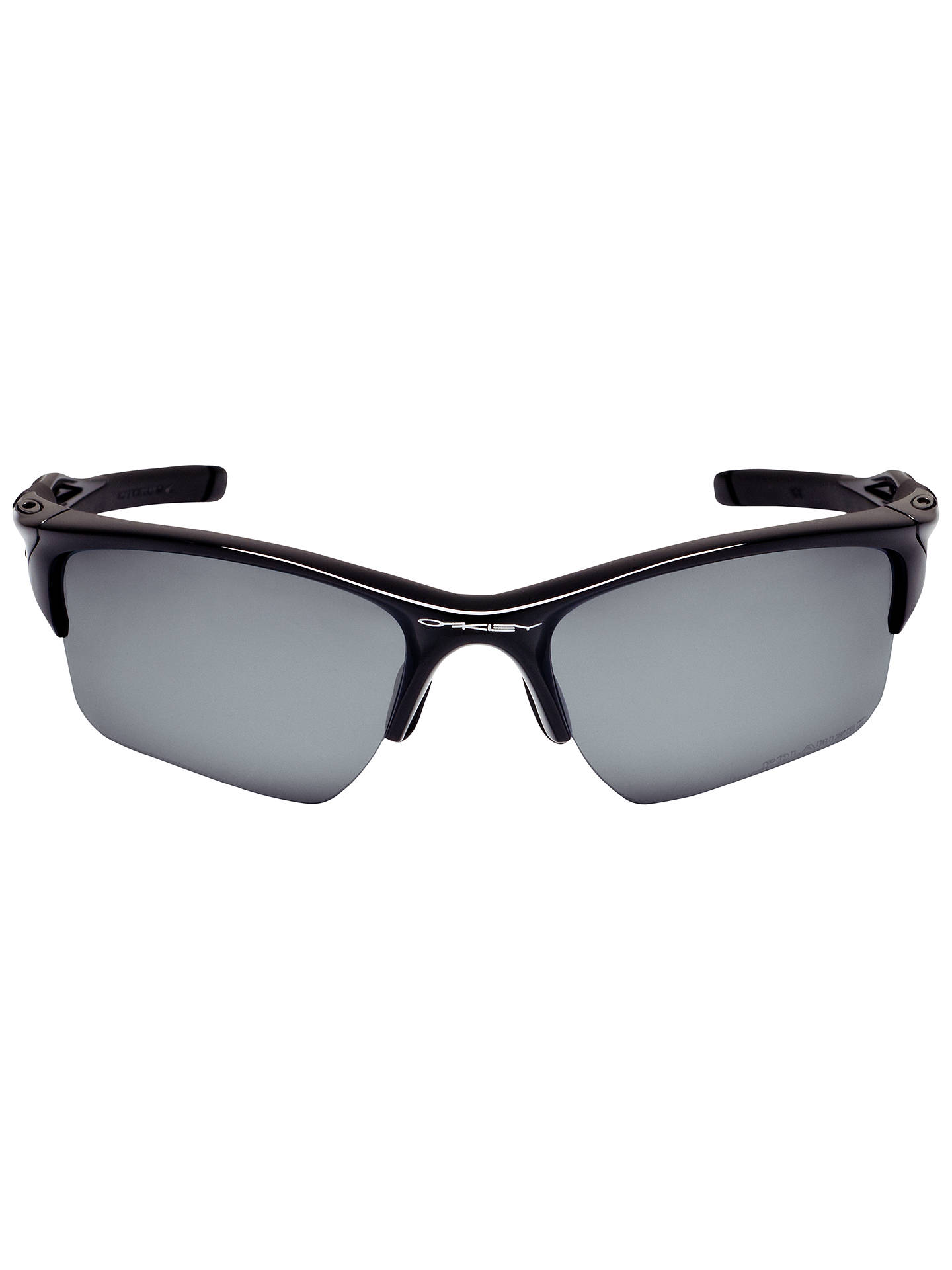 Buy Oakley OO9154 Half Jacket 2.0XL Rectangular Polarised Sunglasses, Polished Black Online at johnlewis.com