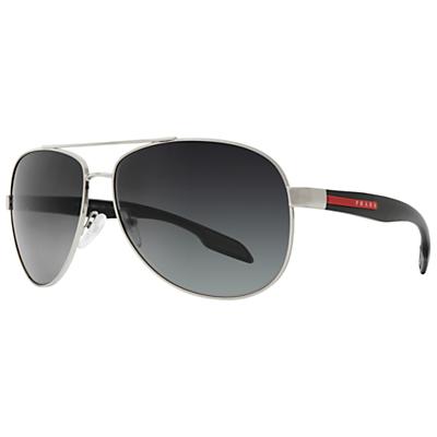 Prada Linea Rossa PS53PS 1BC5W1 Classic Aviator Metal Frame Sunglasses Grey