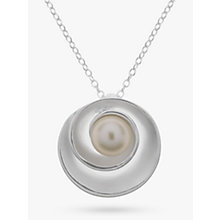 Buy Nina B Sterling Silver Swirl Pearl Necklace, White Online at johnlewis.com