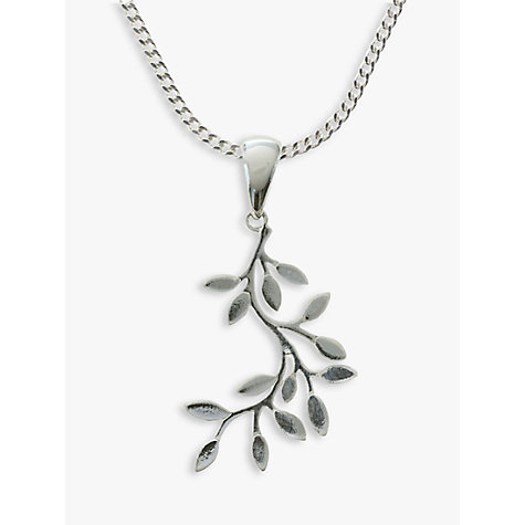 Buy nina b sterling silver leaves pendant john lewis buy nina b sterling silver leaves pendant online at johnlewis aloadofball Image collections
