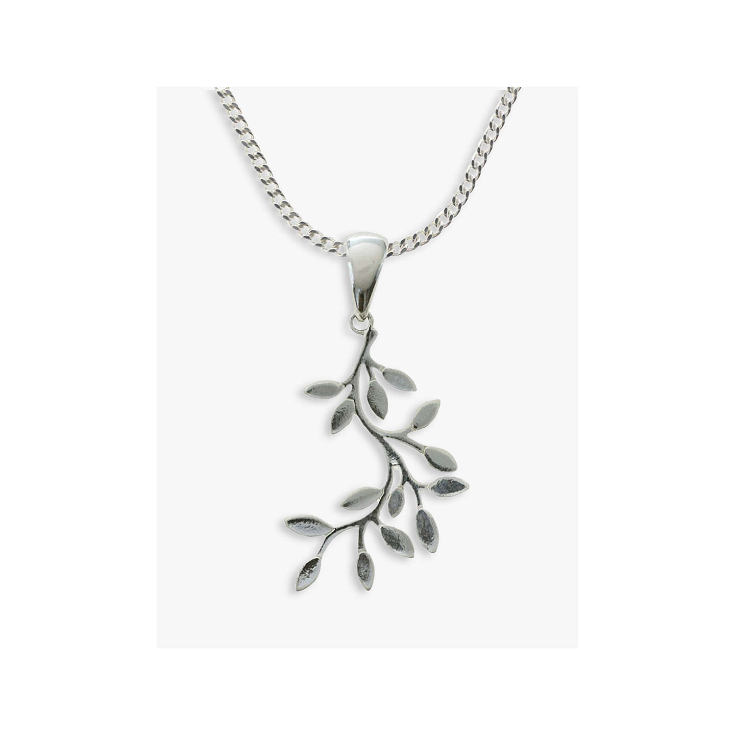 Nina b sterling silver leaves pendant at john lewis buynina b sterling silver leaves pendant online at johnlewis mozeypictures