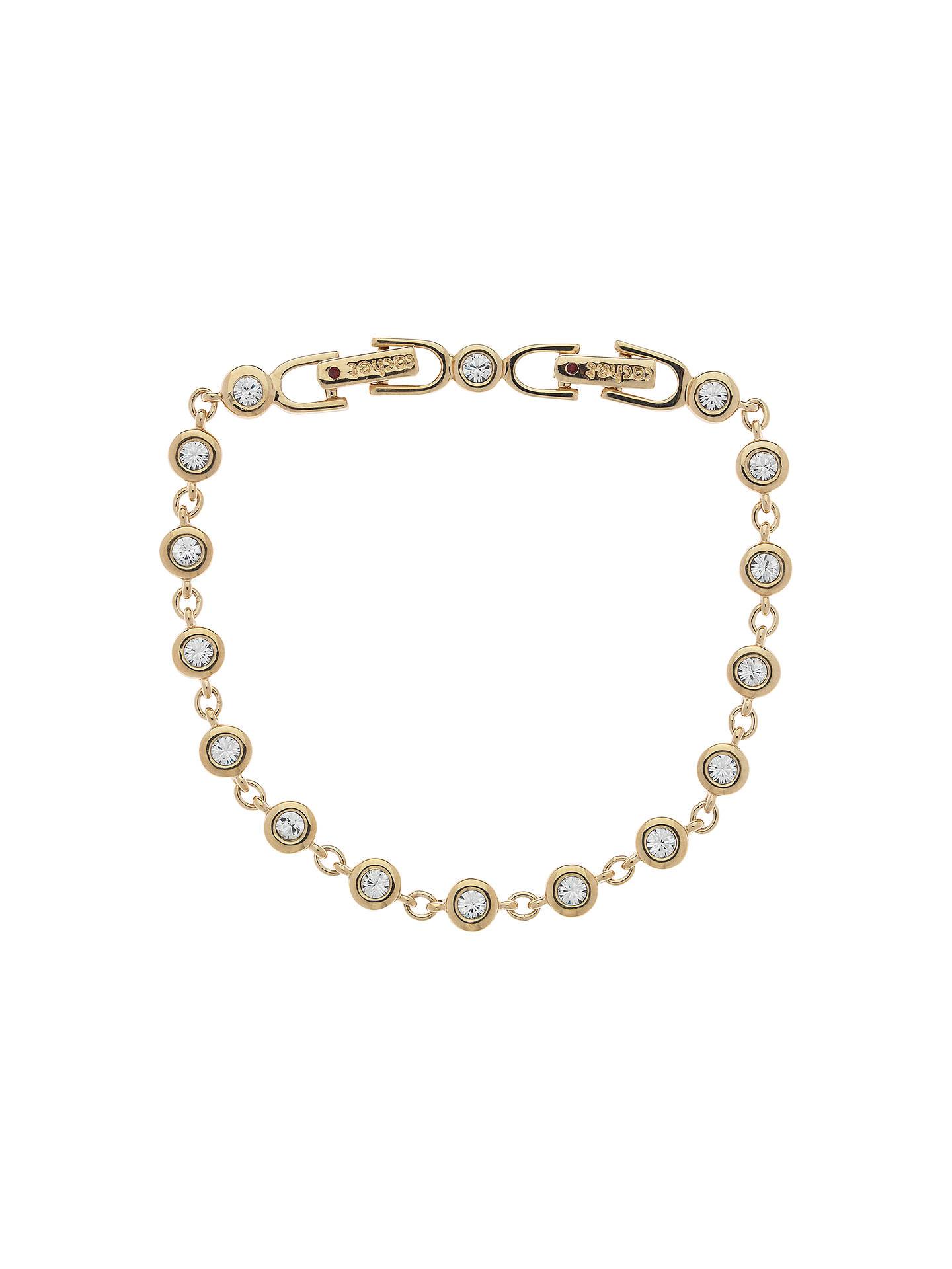 Cachet Gold Plated Swarovski Crystal Linked Bracelet Online At Johnlewis