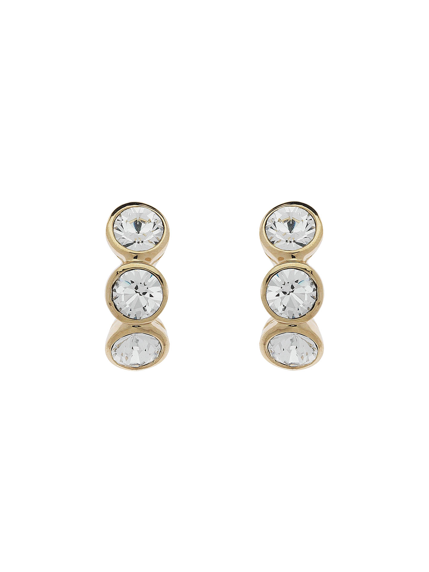 Cachet Swarovski Crystal 3 Stone Mini Stud Earrings at John Lewis ... aa58eabc52
