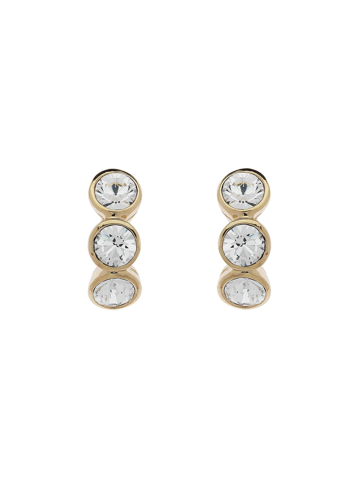 14eadd2d2d Cachet Swarovski Crystal 3 Stone Mini Stud Earrings, Gold