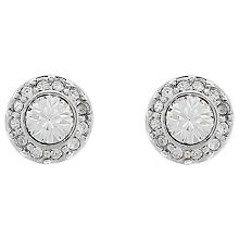 Buy Cachet Rhodium Plated Swarovski Crystal Brilliant Pave Stud Earrings, Silver Online at johnlewis.com