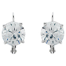Buy Cachet Rhodium Plated Swarovski Crystal Leverback Drop Earrings, Silver Online at johnlewis.com