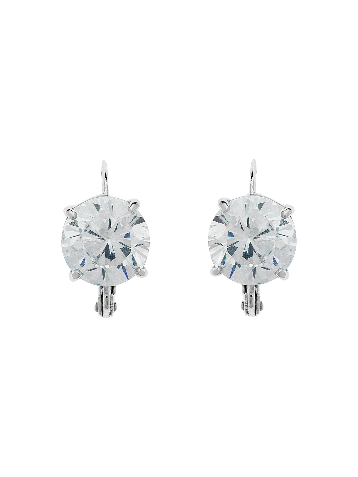 5cb1e383322d Cachet Rhodium Plated Swarovski Crystal Leverback Drop Earrings ...